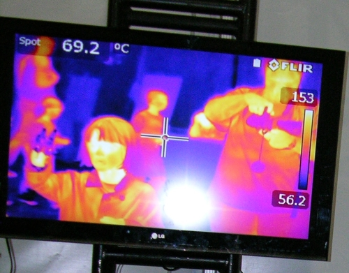 Infra red screen